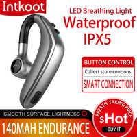 Atualização de emparelhamento automático do fone de ouvido bluetooth sem fio bluetooth com ipx5 à prova dipágua hd chamada negócios fone de ouvido