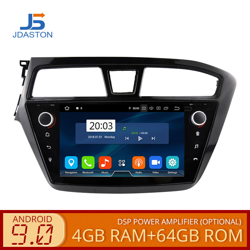 JDASTON Android 9,0 автомобильный мультимедийный плеер для hyundai I20 2015 2018 4G + 64G gps Навигация стерео 2 Din автомагнитола Авто Аудио wifi