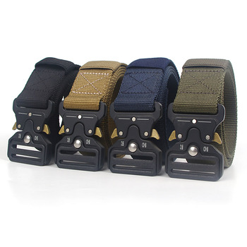 Classic Tactical Outdoor Belt Quick Release Buckle Unisex Nylon Canvas Military Training Belt Men High Quality Designer Belts military web belt 1 5 inch rapid release gun belt tactical nylon duty belt with buckle multifunctional gear outdoor equipment