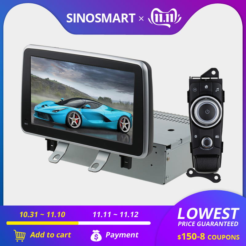 SINOSMART 4/8 Core CPU, 2G RAM Android 8.1 Car GPS Navigation For Mazda 2/CX-3 2015-2017 Canbus To Work With Car Original CD