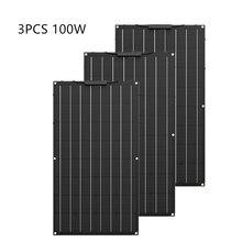 Yüksek kaliteli 300W etfe esnek GÜNEŞ PANELI eşit 3 adet 100W güneş paneli monokristal güneş pili 12v güneş pil şarj cihazı