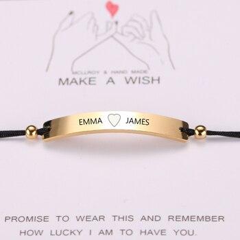 bracelet d'amitié avec prénom