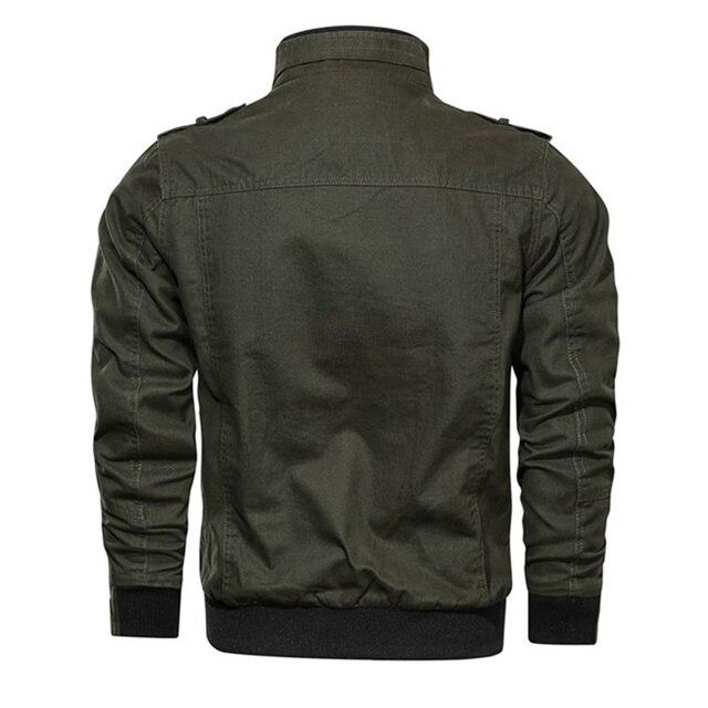 New Military Cotton Pilot Coat Army Men's Bomber Cargo Flight Jacket 2