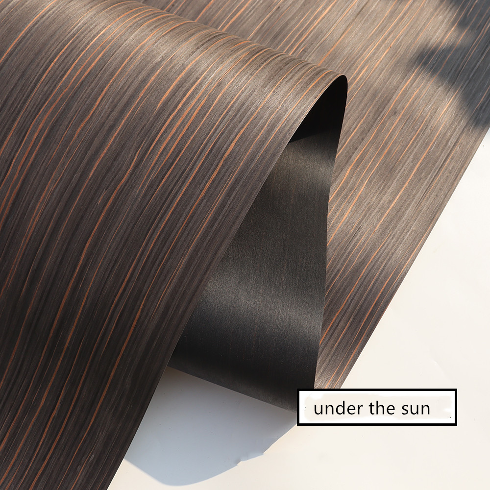 Technical Veneer Sliced Wood Engineering Veneer E.V. Black Brown Ebony Straight Grain Striped Q/C