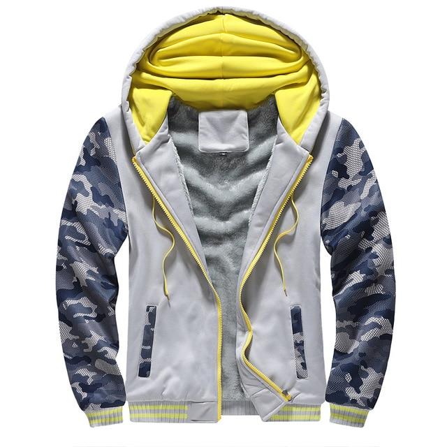 Sweatshirt For Men 2020 Hot Sale Thick Hoodie Streetwear Fitness Men's Sportswear Hoodies Warm Fleece Zipper Coat Sportwear