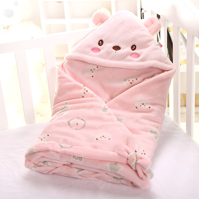 Sallybaby Baby Flannel Spring And Autumn Thin Cotton Blanket Newborn Swaddle Support Custom