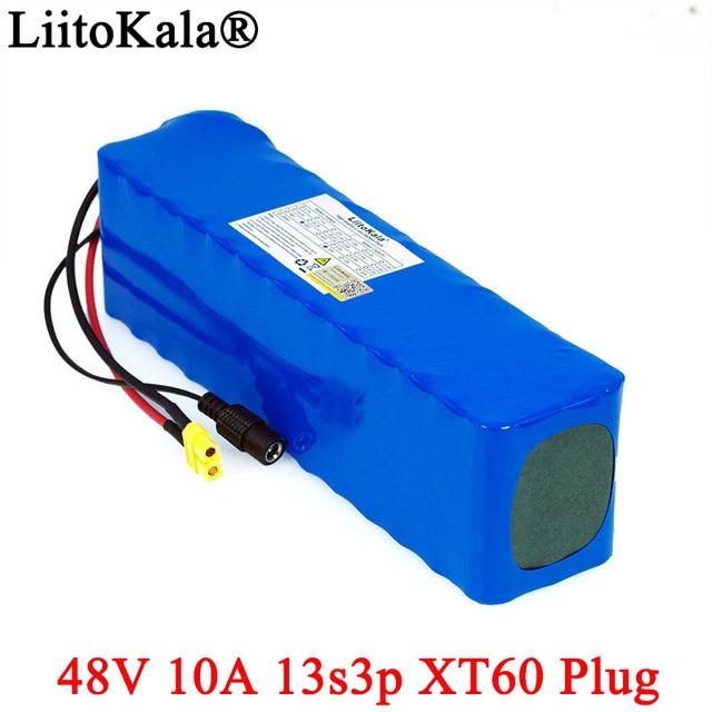 LiitoKala комплект для переоборудования велосипедов, литий ионный аккумулятор 48 В, 10 Ач, 18650, 1000 Вт, 54,6 в, в, p батареи с разъемом XT60