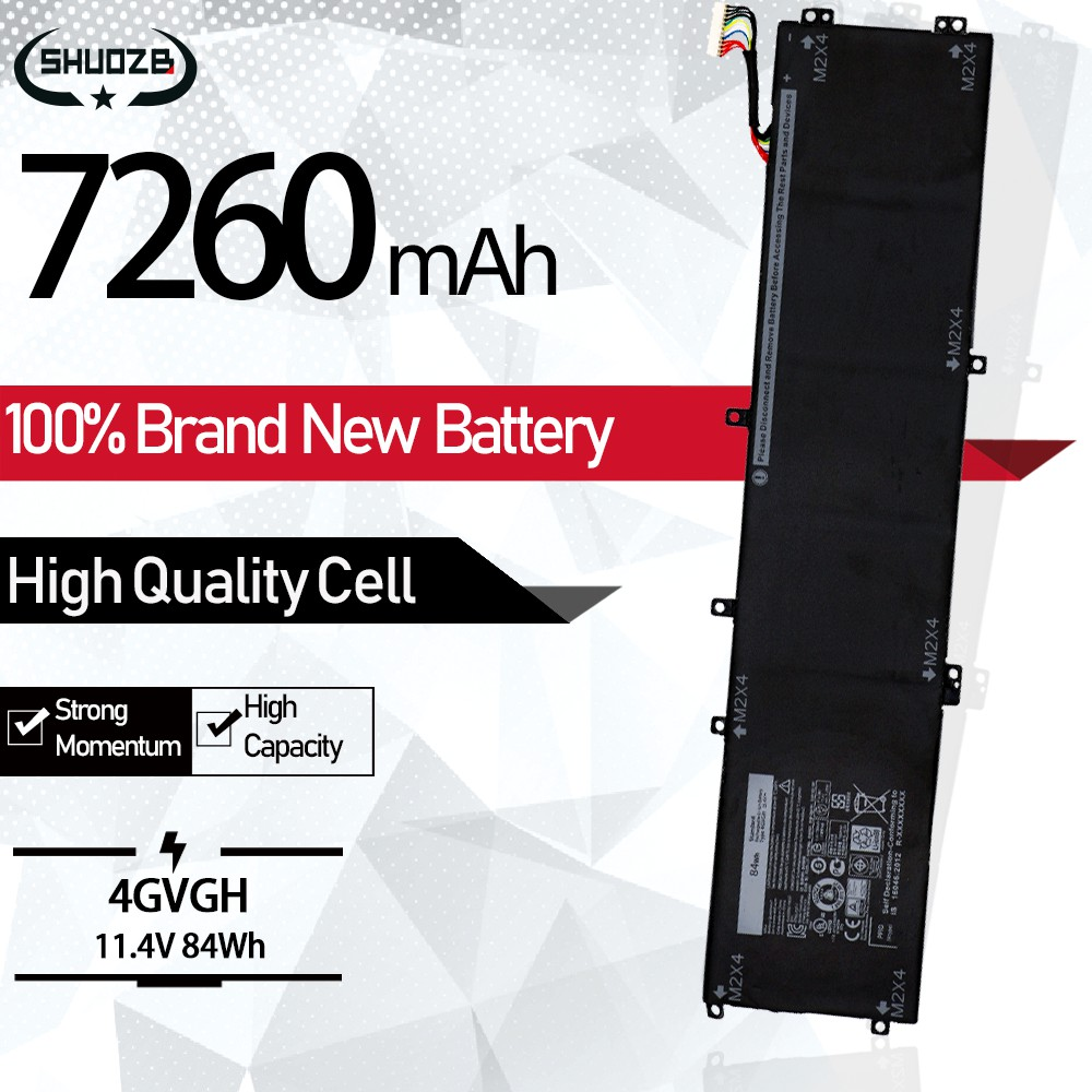 New 4GVGH 1P6KD T453X M5510 P56F Laptop Battery For <font><b>DELL</b></font> Precision 5510 <font><b>XPS</b></font> 15 <font><b>9550</b></font> series 11.4V 84WH 7260mAh 6cells image