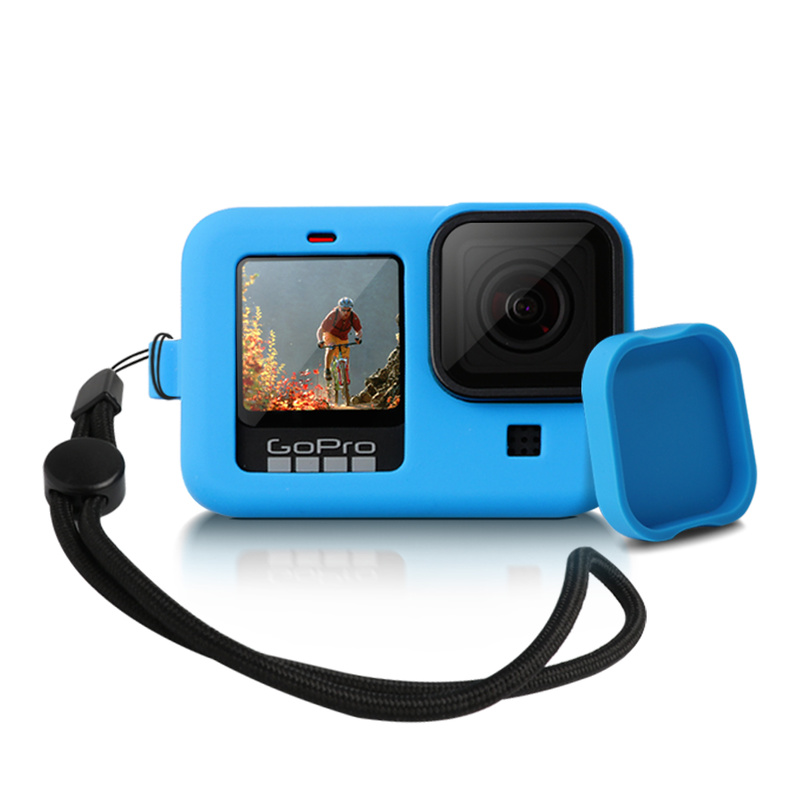 Silicon Protective Cover for GoPro Hero 9 8 Black Sleeve Housing Case Frame with Lanyard Accessory For Go pro 9 8 Case