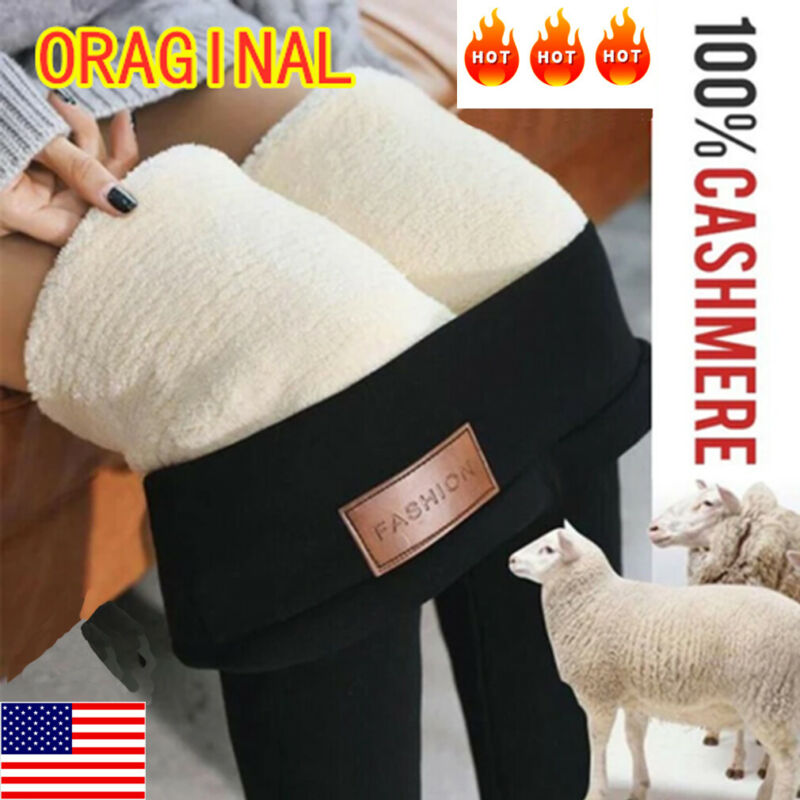 Hot New Fashion Women's Autumn Winter High Elasticity And Good Quality Cashmere Thick Velvet Pants Warm Leggings Pus Size 2XL