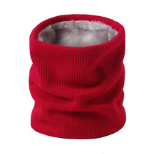 2019 New Winter Warm Solid Brushed Knit Neck Circle Go Out Wrap Cowl Loop Snood Shawl Outdoor Ski Climbing Scarf For Men Women 2019 new winter warm solid brushed knit neck circle outdoor ski climbing scarf for men women go out wrap cowl loop snood shawl