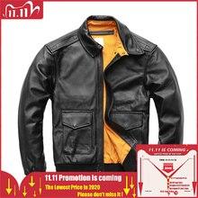 MAPLESTEED – Veste en 100% cuir de veau et de taille 4XL pour homme, blouson noir marron de style pilote militaire, air force vol A2, M154