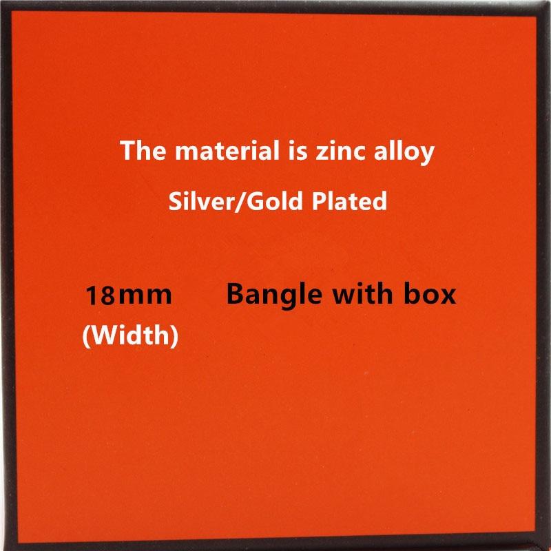 18mm Luxury Zinc Alloy Cuff Bracelets&Bangles Wristband Enamel Bangle Letter Design Classic Original Bracelets(China)