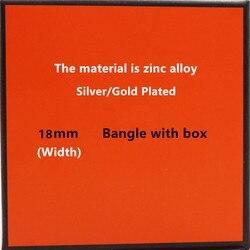 18mm Luxury Zinc Alloy Cuff Bracelets&Bangles Wristband Enamel Bangle Letter Design Classic Original Bracelets
