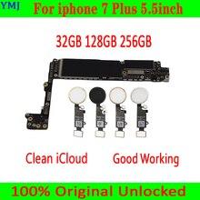 32ギガバイト/128ギガバイト/256ギガバイトiphone 7プラス5.5インチマザーボード/なしタッチid、100% オリジナルロック解除iphone 7プラスmainboar