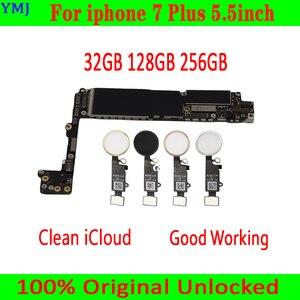 Image 1 - 32GB/128GB/256GB iphone 7 artı 5.5 inç anakart/Touch ID olmadan, 100% orijinal unlocked iphone 7 artı Mainboar