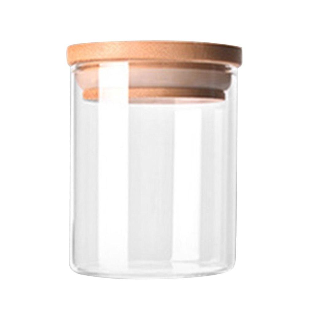 Transparent High Borosilicate Glass Kitchen Storage Bottle Store Food Ingredient Candy Biscuit Storage Jar Home Organization