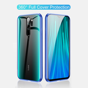 Image 4 - Magnetic Filp Phone Case For Xiaomi Redmi K30 K20 Double Glass Metal Case on redmi 8 8a note 8T 8 7 Pro Protective Coque Cover