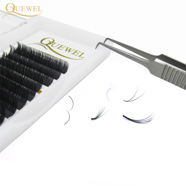 Quewel Easy Fanning Eyelash Extension Blooming Volume Eyelashes Self-making Fast Fans Bloom Lashes Extension Volume Lash 4