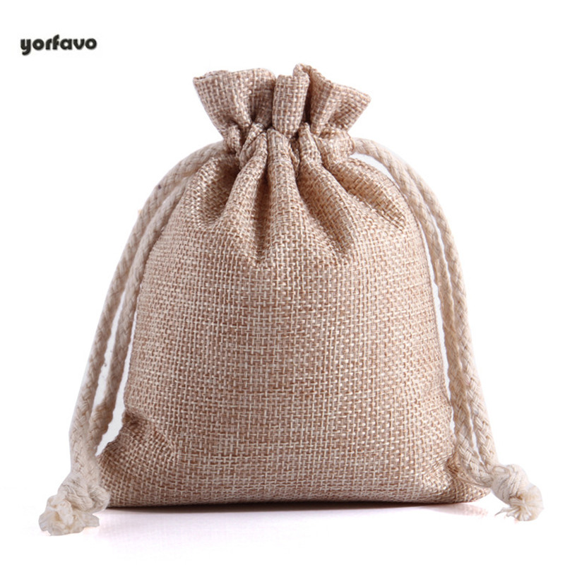 Hot-sale Drawstring Bagscustomed Linen Rope Bundle Pocket Gift Jewelry Storage Bag Rice Bag Wine Bag Tea Bag Food Bag