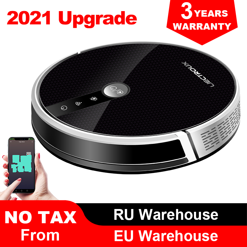 LIECTROUX C30B Robot Vacuum Cleaner Map Navigation,WiFi App,4000Pa Suction,Smart Memory,Electric WaterTank,Wet Mopping,Disinfect