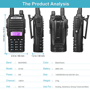 Image 5 - Bộ Đàm BaoFeng UV 82 2 Băng Tần 136 174Mhz (VHF) 400 520Mhz (UHF) 5W 2 Chiều Đài Phát Thanh Cầm Tay Máy Bộ Đàm