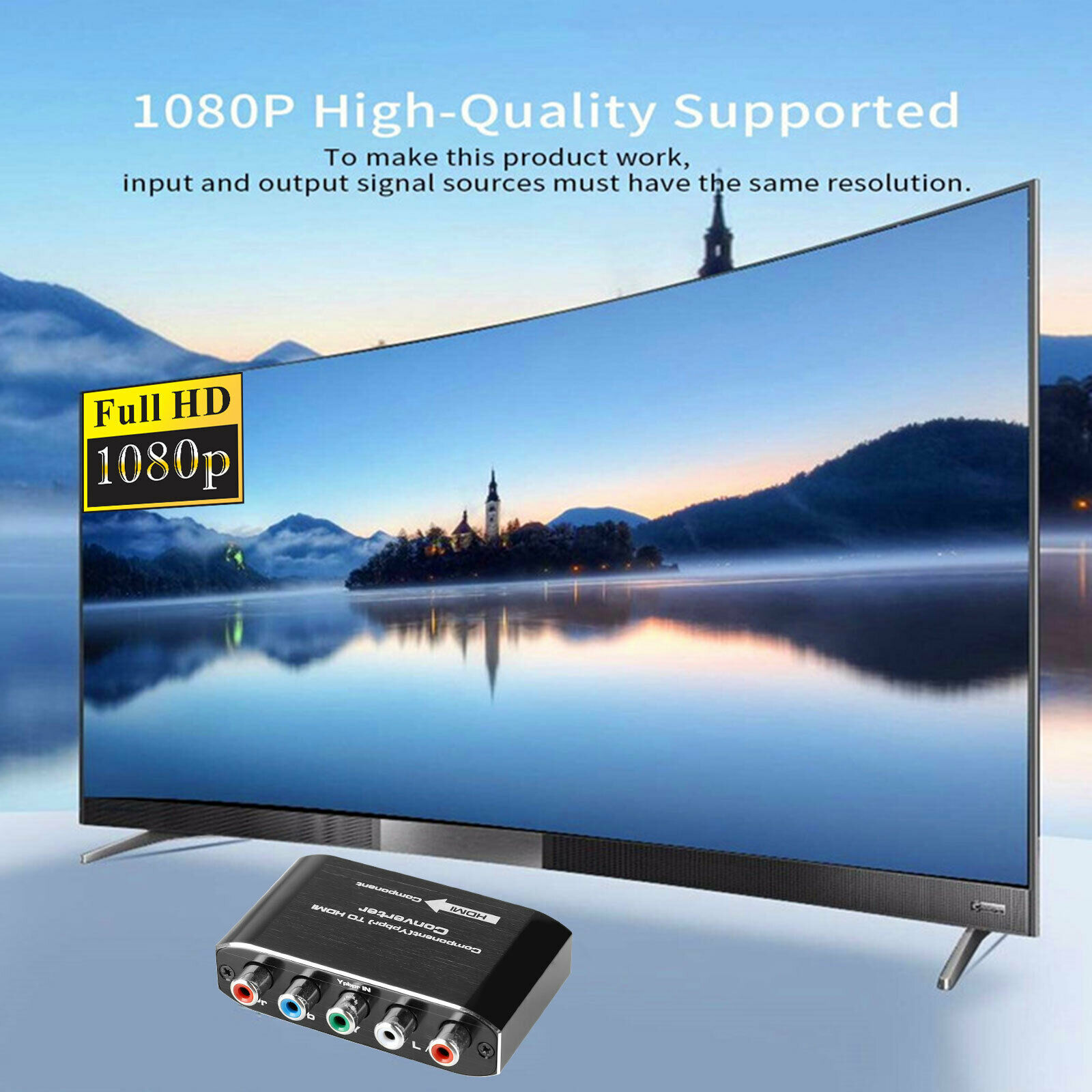 Конвертер HDMI для DVD, PS Компонентный видео и L/R, RCA, стерео аудио к HDMI, переходник, 1080P Аудио и видео конвертер|Беспроводные адаптеры|   | АлиЭкспресс