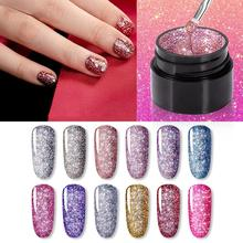 ROSALIND Glitter Rhinestone Sequin UV LED Nail Gel Polish Shiny Soak O