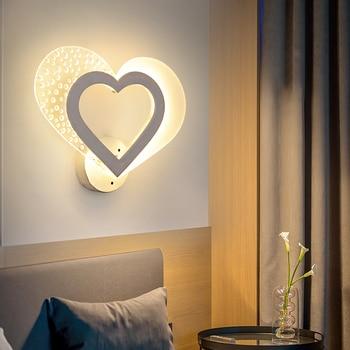 Creative led bedside lamp wall lamp bedroom wedding room simple modern warm wall lamp WF9251016