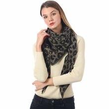 2020 модные женские трикотажные кашемировые шарфы с леопардовым
