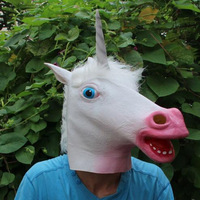 Familysky маска на Хэллоуин вечеринку полное лицо ужасное животное голова лошади маска реквизит для карнавальный на Хэллоуин маска для вечерин...