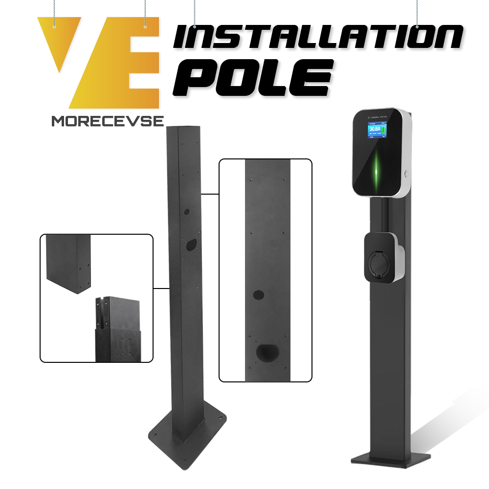 Electric Car Charger Stand EV Charge Point Installation Pole Pillar