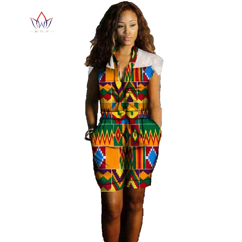 Traditional African Clothing Women Bodysuits Dashiki Overalls for Women Plus Size Women Clothes Dashiki Print 6XL Bodysuit WYW06