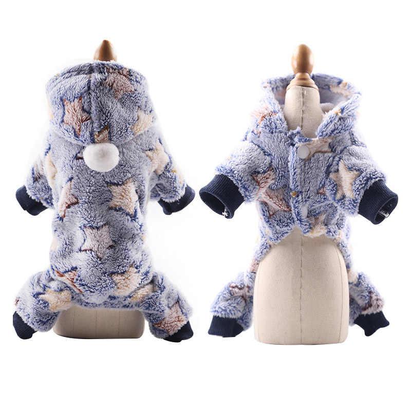 Pawstrip petit chien vêtements chaud hiver animal de compagnie chien combinaison doux polaire sweat à capuche chiot automne chien vêtements pour Teddy poméranie XS-XXL