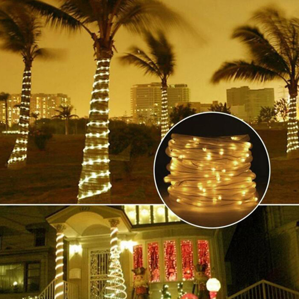 100 LED Solar Light String Outdoor Waterproof for Garden Decoration Solar Powered Lamp Rope Strip Fairy Lights Christmas Wedding