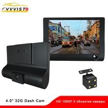 VVVIST Rearview Car Camera Video Recorders 3 Cameras Lens Rear View Driving Recorder Registrator Surveillance