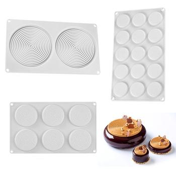 Wiry Shape Chocolate wzornik Whirlpool Shaped silikonowe formy na ciasto Top Decoration Transfer Sheet tanie i dobre opinie SwtHart CN (pochodzenie) CC0148~150 Ekologiczne