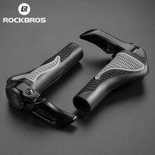 ROCKBROS-componentes para bicicleta de montaña, extremos de manillar, empuñaduras de goma y barra de aluminio, mangos de empuje ergonómicos suaves