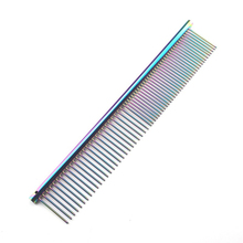 Colorful Piano Paint Professional Anti-Corrosion Grooming Comb For Dogs Cats Tapered