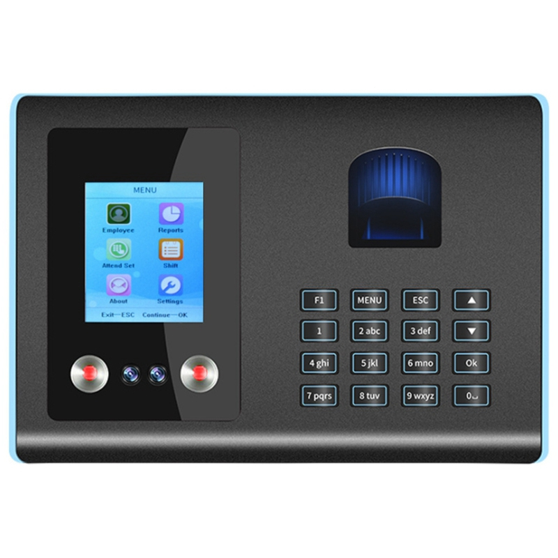 FA01 Biometric Fingerprint and Facial Recognition Time Clock Time Attendance Machine Free Software Included AU Plug