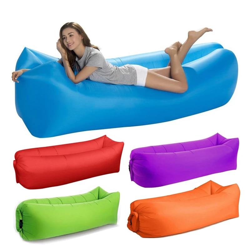 Camping Inflatable Sofa Lazy Bag Ultralight Sleeping Bag Air Bed Beach Lounger
