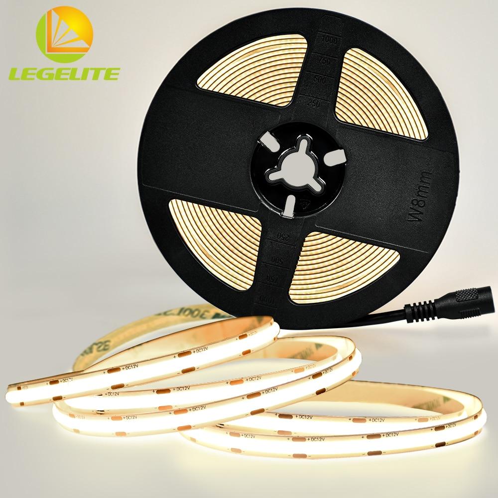 LEGELITE COB Светодиодные ленты светильник 480 светодиодов Новый высокой плотности гибкие светодиодные ленты светильник s теплый белый 3000K 4000K 6000K ...