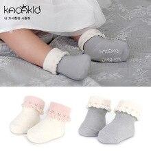 Kacakid/новые стильные детские носки на весну и осень милые короткие носки с изображением сердца для девочек хлопчатобумажные носочки для младенцев, Нескользящие