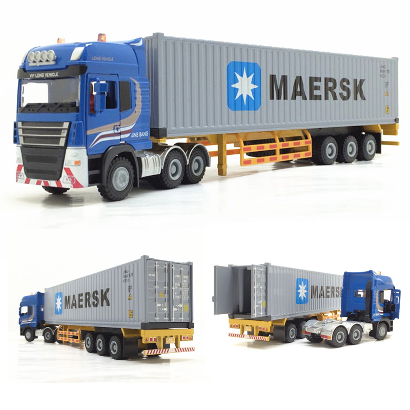 28 * 5 * 6CM Children Birthday Gift Maersk Semi-trailer Container Truck Alloy Transport Model 1:50 Toys Car