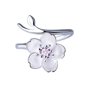 Silver 925 Jewelry Purple Zircon Cherry Ring Simple Fashion Silver Ring For Women Engagement Wedding Elegant Accessories