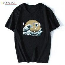 The Great Guardian Pokemon Wave Japan T Shirt Men/women Aesthetic Cute Cotton Cool Vintage Harajuku Streetwear Anime Tshirt