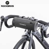 Rockbros à prova dwaterproof água saco de bicicleta frente mtb estrada guiador pannier multi-purpose grande capacidade mochila ciclismo tubo saco