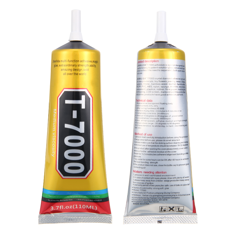 15ml/50ml/100ml T-7000 Adhesive Super Glue T7000 Black Liquid Glue Epoxy Resin Sealant Adhesive Soft Glue For DIY Tools Repairin