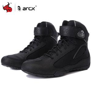 Image 2 - ARCX motosiklet botları erkek motosiklet ayakkabı Moto binici çizmeleri nefes motosiklet Biker Chopper Cruiser Touring ayak bileği ayakkabı