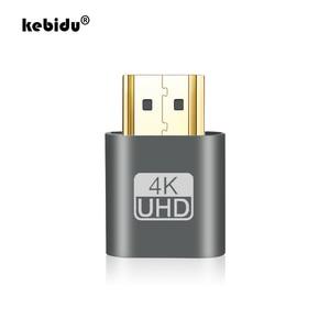 kebidu 1PC VGA Virtual Plug HDMI Dummy Adapter Virtual Display Emulator Adapter DDC Edid Support 1920x1080P For Video 3 colors